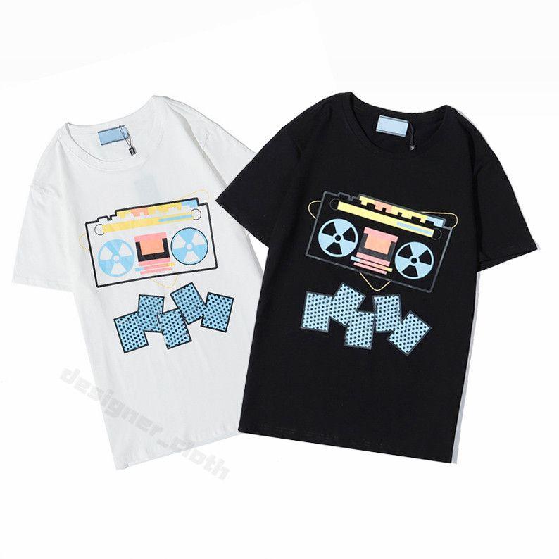 2021 Womens Mens Designers T 셔츠 편지 프레임 인쇄 패션 여성 T 셔츠 코튼 캐주얼 티셔츠 짧은 소매 Luxe Tshirts