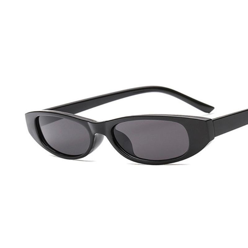 Lunettes de soleil 2021 Haute Qualité Vintage Ovale Femmes Marque Designer étroit petit cadre lunettes Hip Hop Clear Verres de soleil