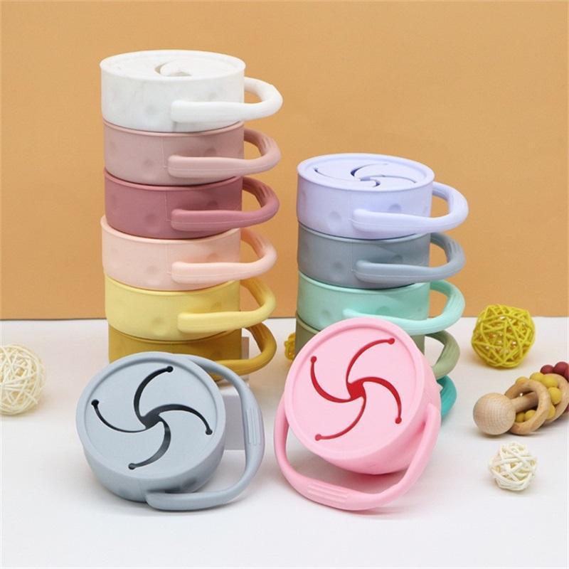 Tazze a spuntino pieghevoli in silicone tazza da viaggio pieghevole con coperchio e maniglia tazze da spuntino riutilizzabili tazza tazza picnic spuntini tazze my-inf0661 23 v2