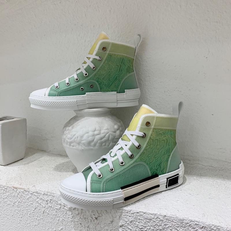 الكلاسيكية المطبوعة الأبجدية b23 حذاء قماش رجل أحذية رجالي حذاء نسائي عارضة الأزياء رياضة التطريز ارتفاع منخفض منحرف الجلود الدانتيل يصل المرأة تصميم المرأة