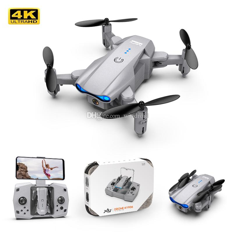2021 NUEVO KY906 MINI DRONE DRONE 4K PROFESSIONAL HD DUAL CAMIENTE FPV DRONES FOLDBLE Quadcopter Sígueme RC Helicopter Niños Juguetes