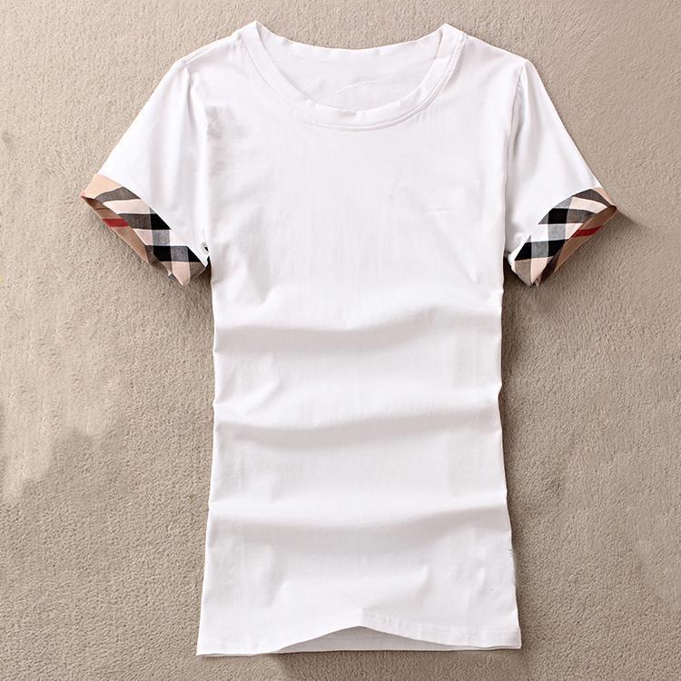 2021 Brandneue Damenhemden Slim Cotton 100% Frauen T-Shirt Kurzärztlich Für weibliche dünne weiße Pure Tops Frau T-Shirt