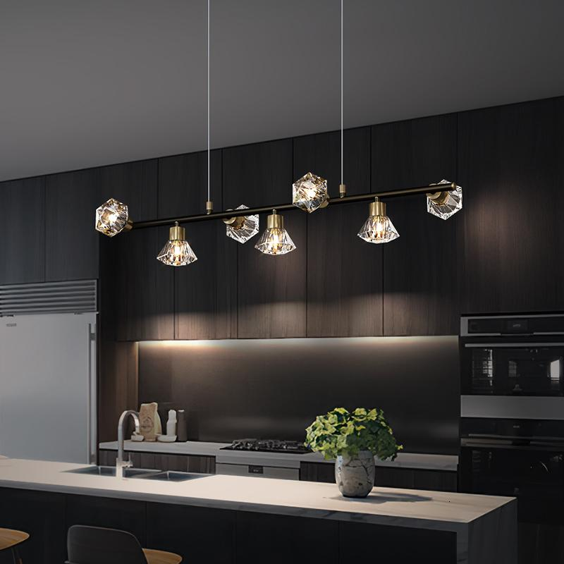 Modern Light Pendant Led Simple Gold Copper for Dining Study Kitchen Living Room Bar Lobby Hotel Personality Luminaries Sfrp