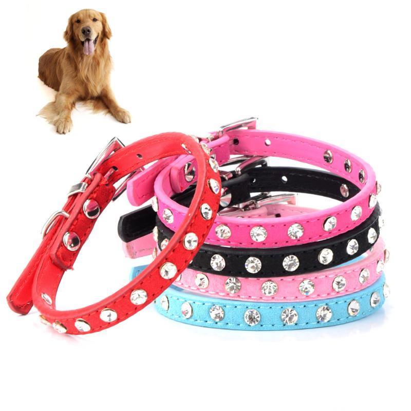 Pet Compars Dog Hollars регулируются по размеру, подходящие для кота и щенка, питомца для животных базовый сплошной цветной тяговой ошейник