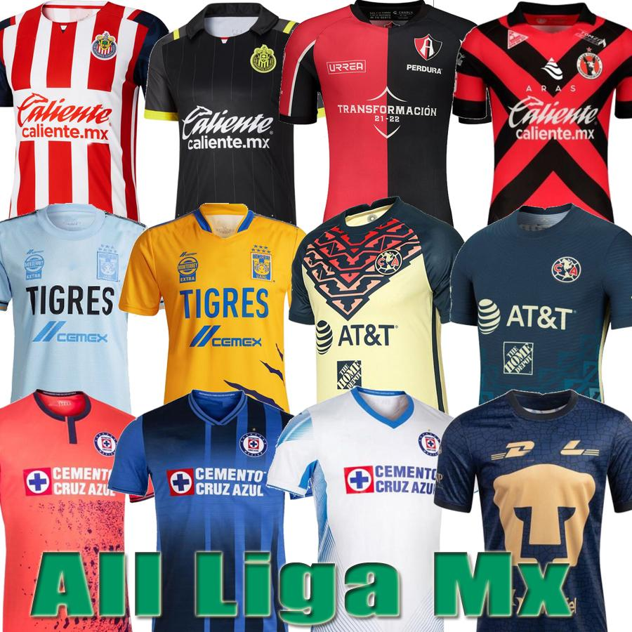 Club America Jerseys Nuevo 20 21 22 Camisetas de fútbol del Club América 2020 2021 2022 Camiseta del Club de México Tigres Guadalajara Chivas kit