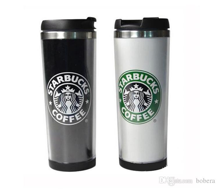 Starbucks Cups 14oz 420ml Stainless Steel Mug Flexible Cups Coffee Tumblers Mug Tea Travelling Mugs Tea Wine Cups