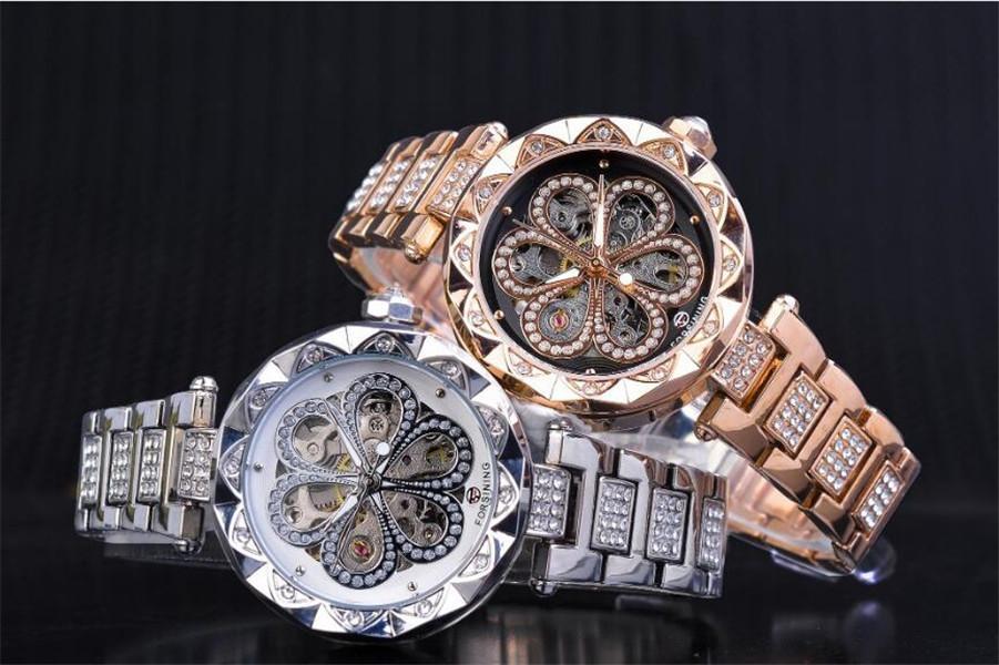 Ashion Elbise İzle Lady Mekanik Otomatik İzle için Forsiging Saatler