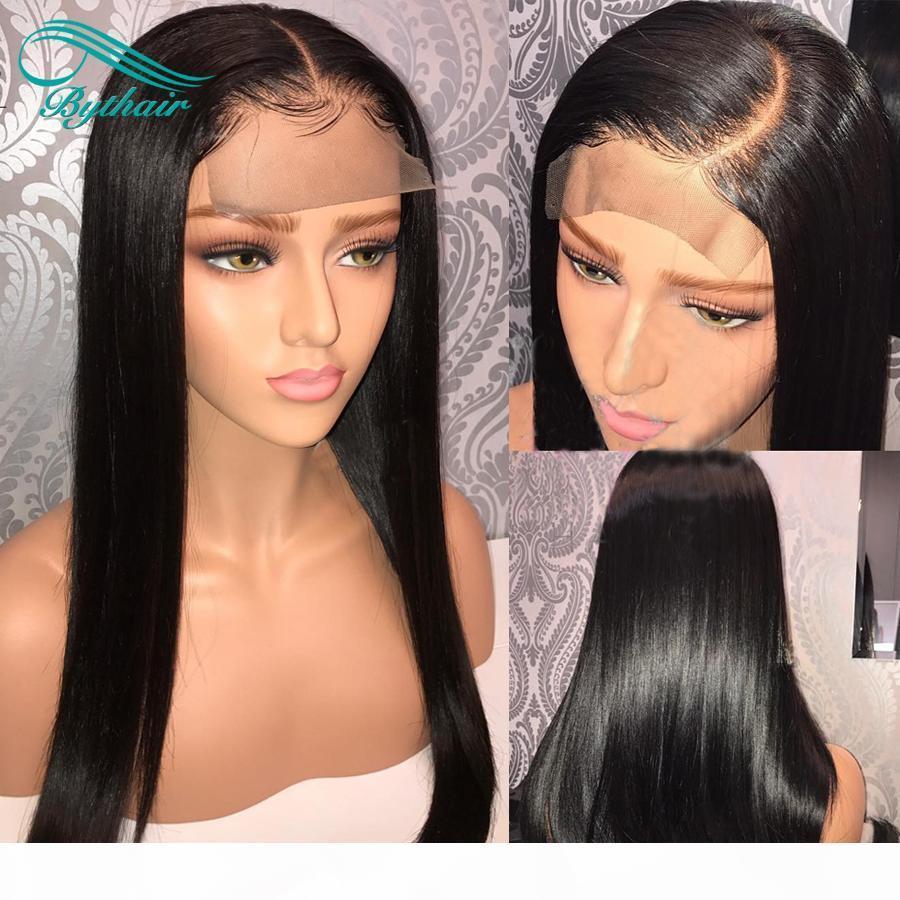 Perucas de renda completa com cabelo bebê 100% não processado brasileiro virgem humana wigs para mulheres negras peruca dianteira de renda