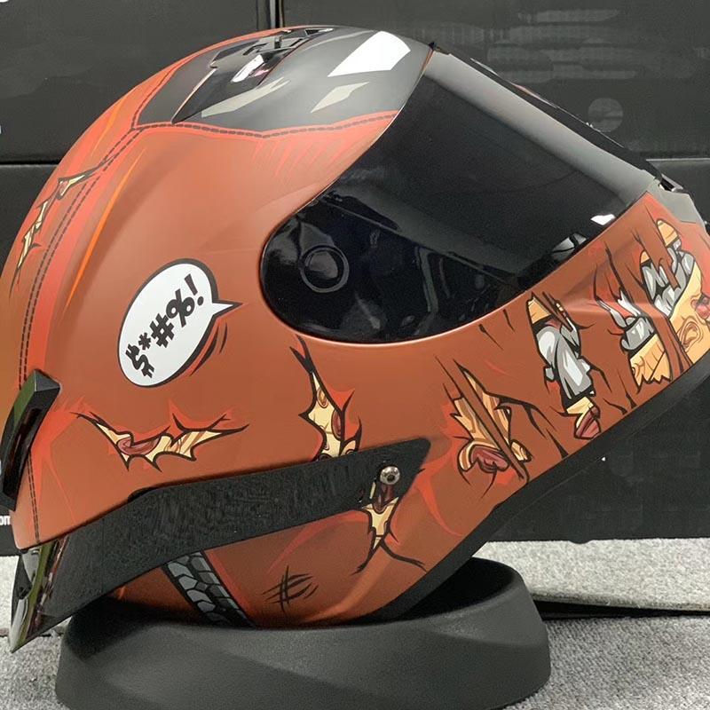 2021 New Arrival Riding Full Face Helmets Motorcycle Helmet Motocross Crash Helmet Scooter Casco Single Visor Hat