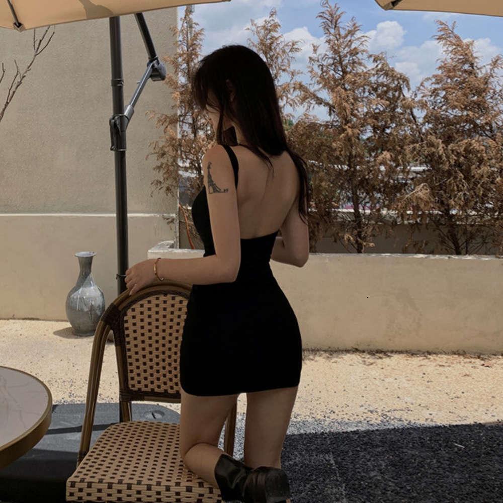 Платья HIP Spice Девушка Темперамент Коротко с подвесью Внутри Без спинки Осень и Зимнее Платье Тонкий Сумка Плотная Юбка Нижняя Сексуальная