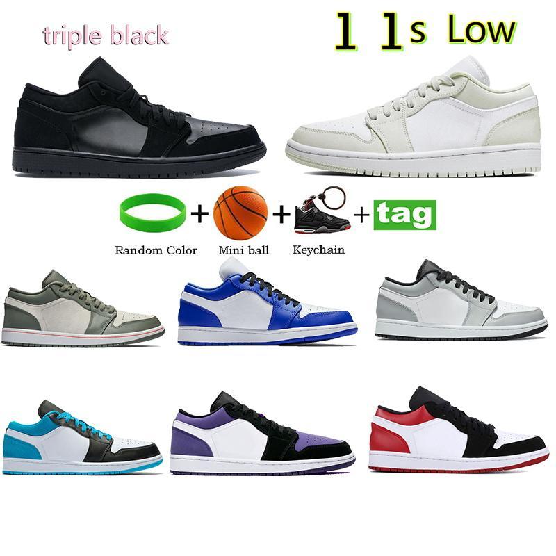 أعلى رجل 1 1 ثانية منخفضة كرة السلة الأحذية الثلاثي سوداء التنوب أورا فربر الملكي ضوء الدخان رمادي الليزر الأزرق الرجال النساء الرياضة أحذية رياضية