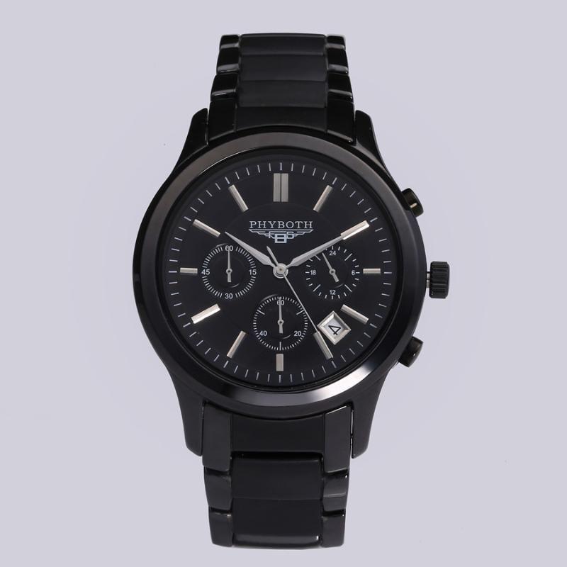Neue Männer Sportuhr Phyboth1451 Keramik Armbanduhr Japanische Quarz Bewegung Uhr Kostenloser Versand Geschenk Großhandel
