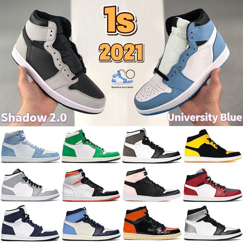 Top 3 University Blue 1 1S Hombres Zapatos de baloncesto Sombra Hyper Royal Electro Naranja Oscuro Mocha Crimson Tint No Hombre Entrenadores Mujeres Sneakers