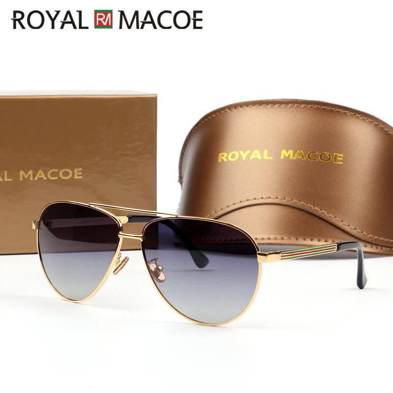 ROYAL MACOE High Quality Classic Men Women Sunglasses Polarized Brand Sun Glasses Driving Shield With Case Oculos Lentes X0125