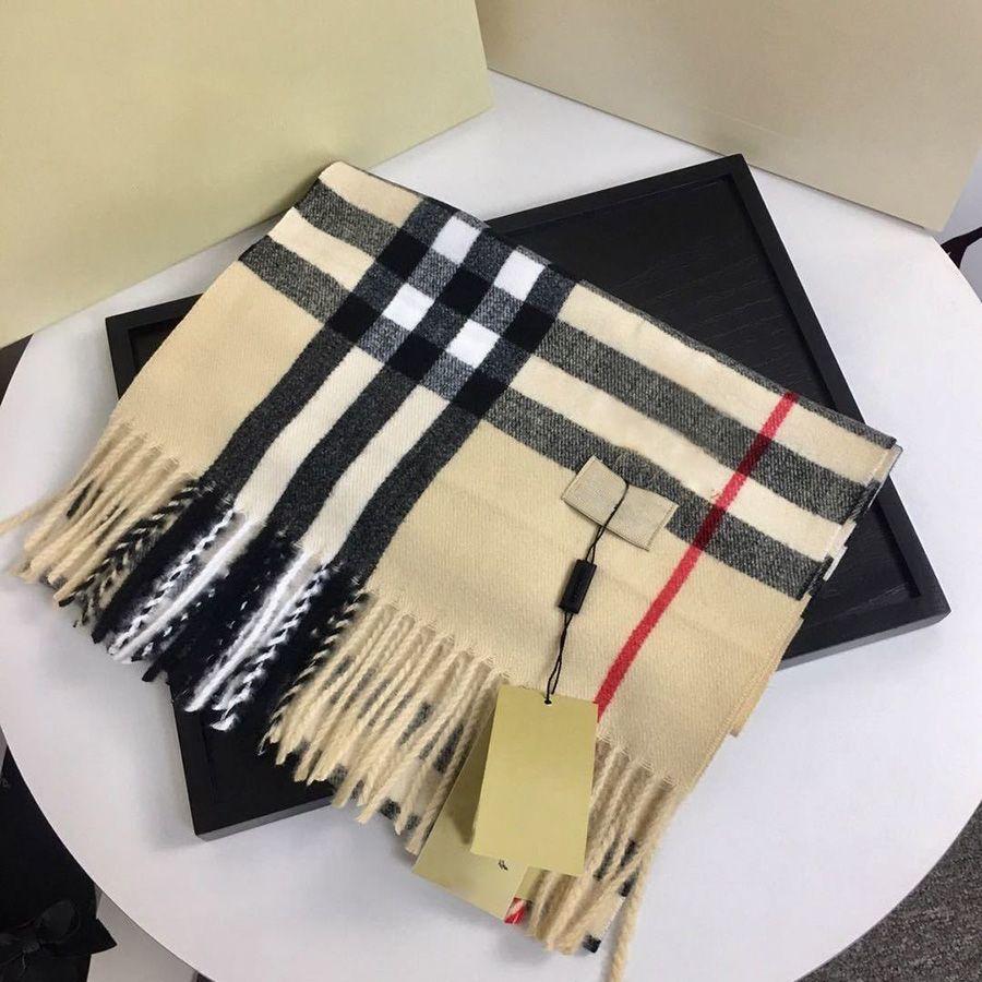 디자이너 브랜드 캐시미어 하이 엔드 부드러운 두꺼운 스카프 클래식 격자 무늬 인쇄 남성과 여성의 스카프 크기 180x35cm 최고 품질의 패션