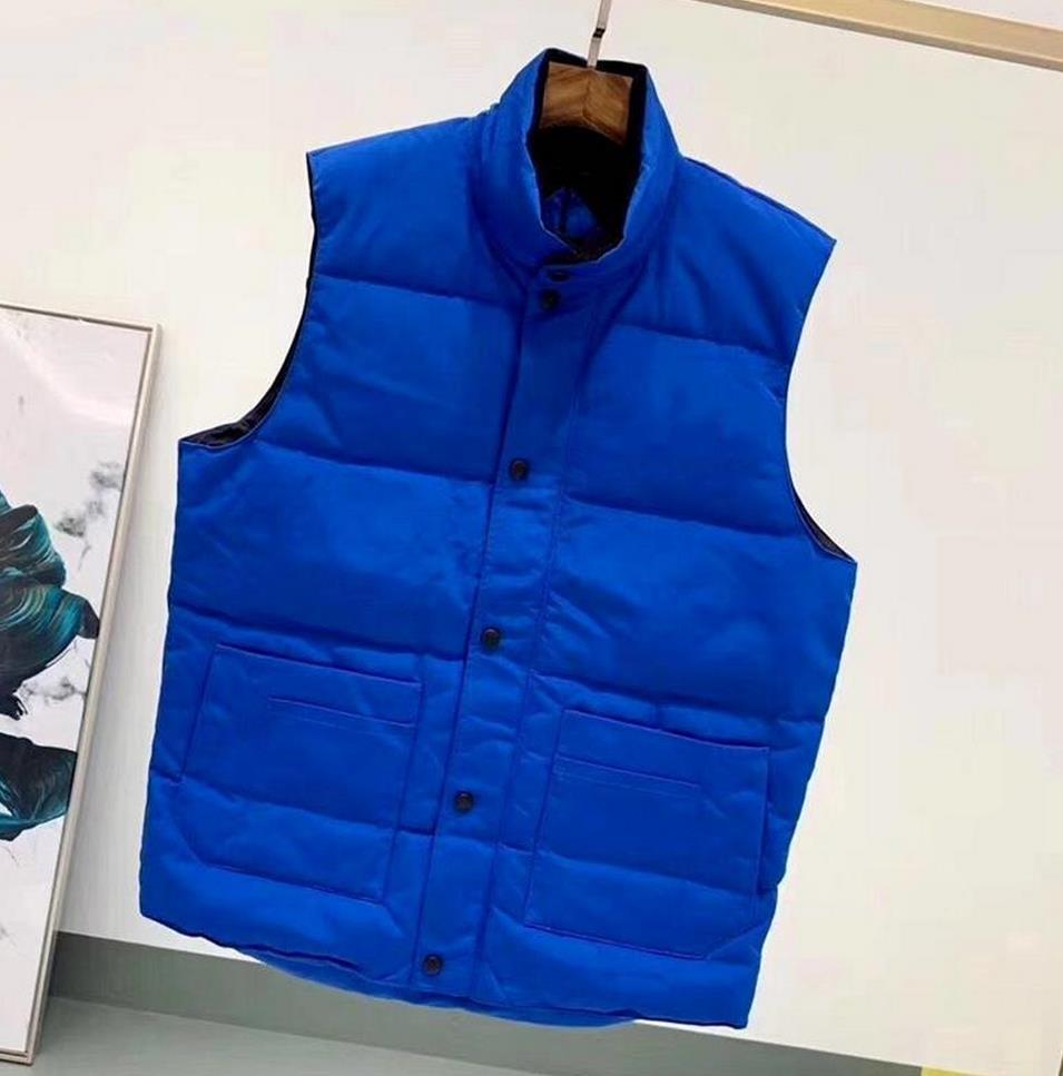 2021 브랜드 캐나다 미국 스타일 조끼 재킷 망 진짜 깃털 다운 겨울 패션 조끼 Bodywarmer 고급 Windstopper 방수 패브릭