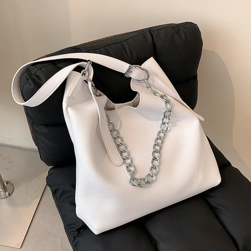 Evening Bags High Quality Ladies Retro Shoulder Bag Chain Portable Female2021 Fashion And Soft Leather Large Capacity Underarm