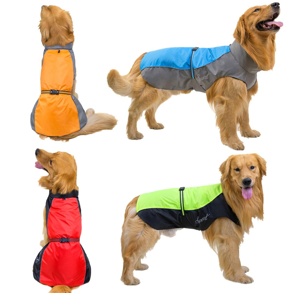 Dog Apparel Clothes Pet Rain Coat Waterproof Jackets Breathable Assault Raincoat for Big Dogs Cats Apparels Pets Supplies 7XL 8XL 9XL