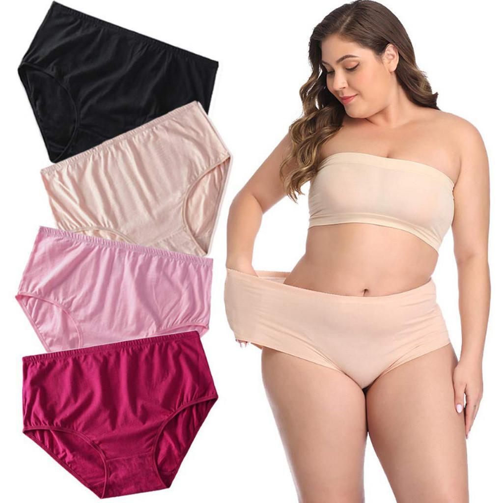 XL-6XL زائد الحجم النساء اللبانية إمرأة داخلية مثير مرونة الكلسون الإناث الرباط السرطان الملابس الداخلية المتضخم