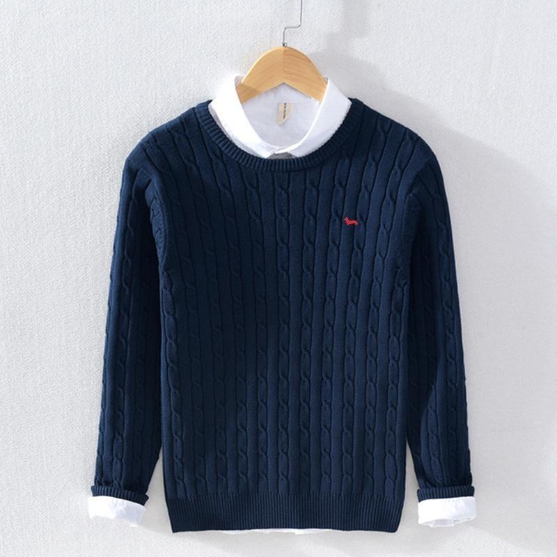 Maglioni degli uomini Armonto Armonto Caldo caldo Maglione invernale per gli uomini Nuovo Casual Pull Cotton Pullover Geometric Pattern Cappotto
