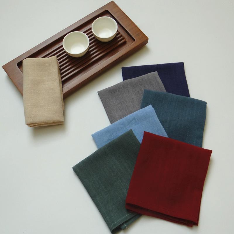 4шт сплошной ужин салфетки белья хлопчатобумажная ткань салфетка 30x40см ультра мягкое повседневное использование таблицы салфетки