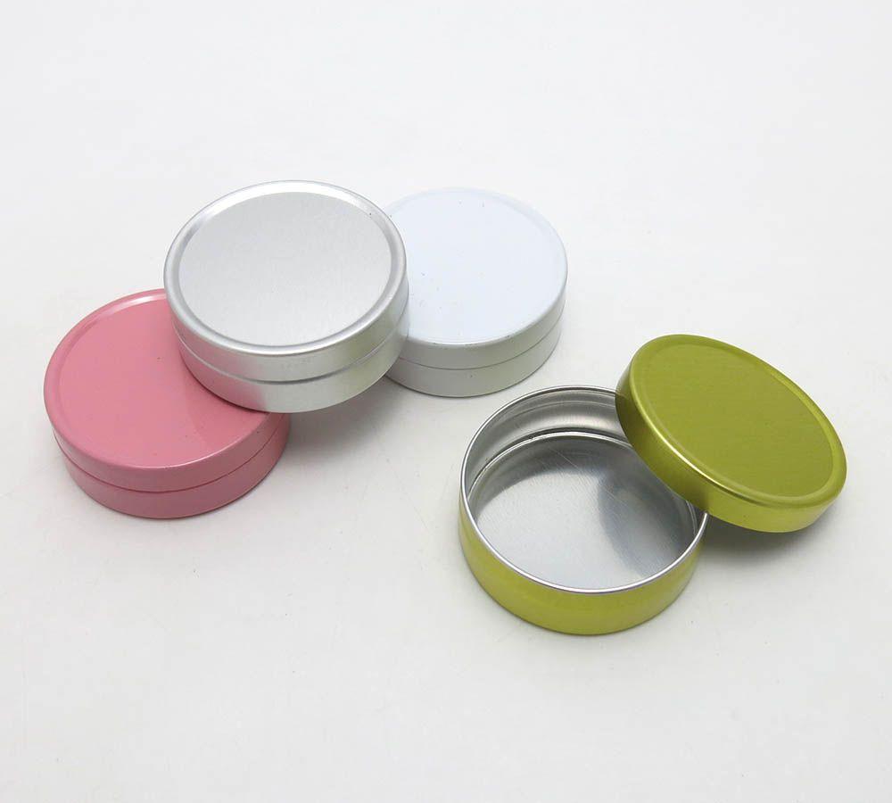 50 unids 10 ml mini bálsamo de labios crema tarro metálico 10g pequeño aluminio lata olla al por mayor plata blanco oro rosa jarra recipiente cosmético