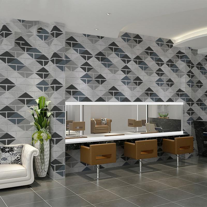 Modern Geometric Imitation Brick Wall Papers Bedroom Study Living Room Decor Wall Sticker Self-adhesive Wallpaper Home Decor