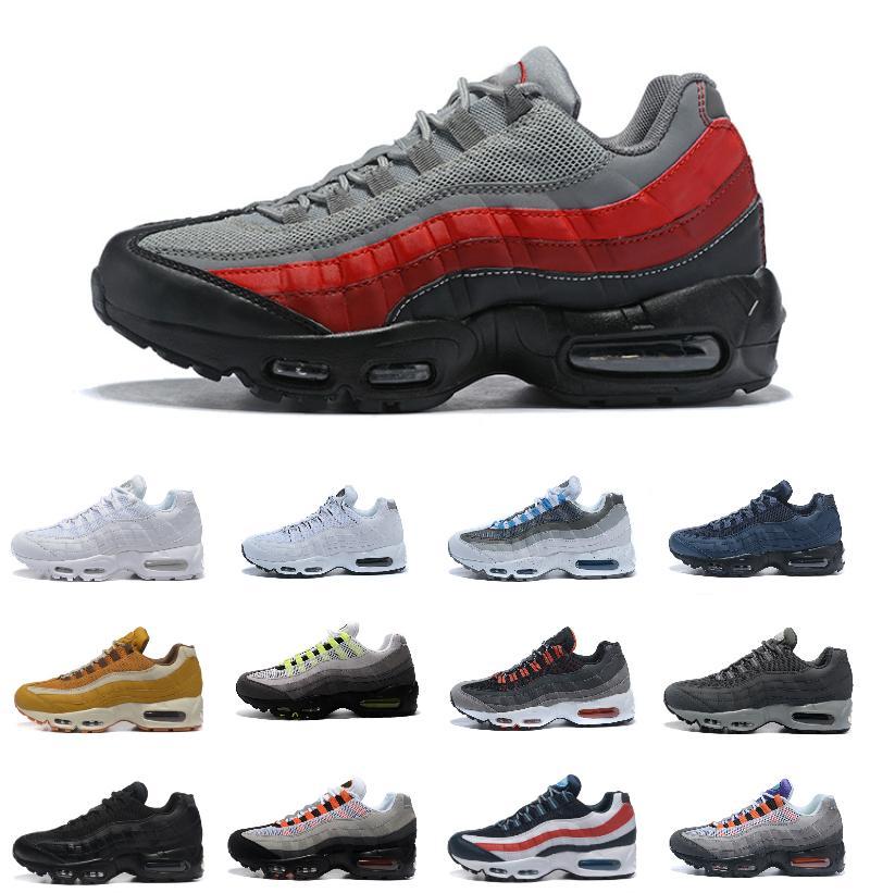 خصم الترا 95 og og x 20th الذكرى الذكرى الجري الأحذية الرياضية 95S المدرب الهواء الأسود الوحيد رمادي أزرق جودة عالية chaussures tennis الحذاء