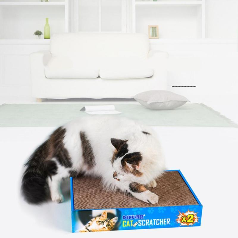 Cat Toys Scratching Board Double Side Corrugated Paper Grinding Toy Box Packing