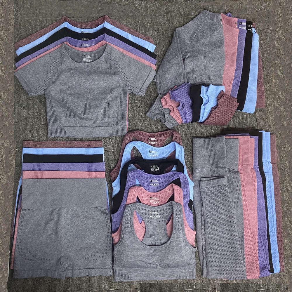 Autunm зимняя мода дизайнер женские хлопчатобумажные йоги костюм гимберги же sty sportwear трексуиты фитнес спорт 5 шт. Бюстгальтерские наряды наряда