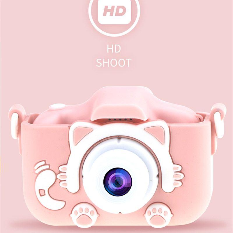 Детская камера милая игрушка кошка мини цифровая камера IPS экран образования игрушки для детей HD камеры для детей день рождения подарок