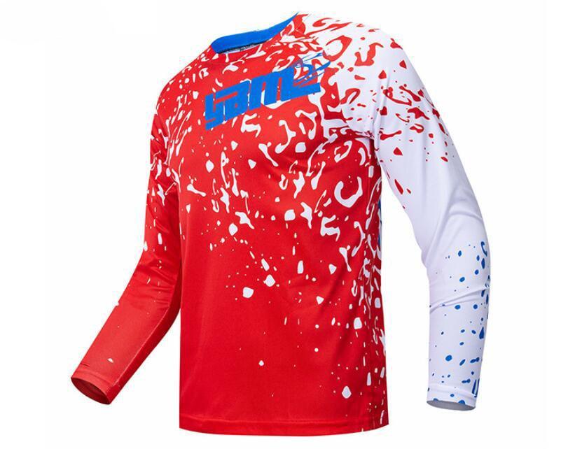 Tour de France cycling jersey long-sleeved shirt men summer short-sleeved mountain bike cross-country motorcycle clothing custom F1 racing f