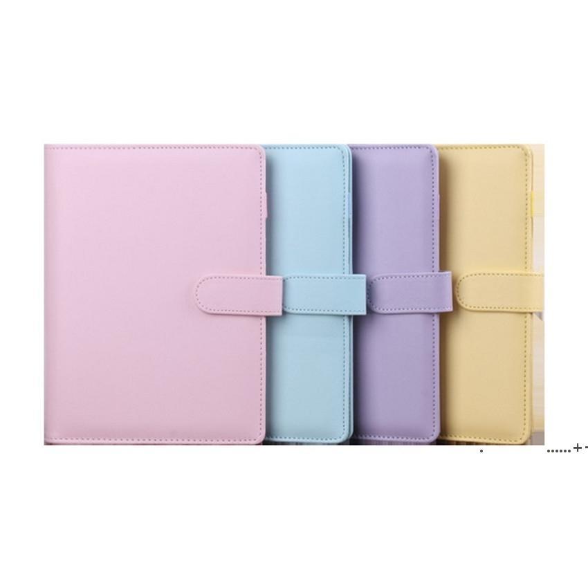 PU кожи A6 Крышка ноутбука связующее дневник графика книги Планировщик дневник Свободные листья Binder Милые школьные принадлежности A03 EWF10222