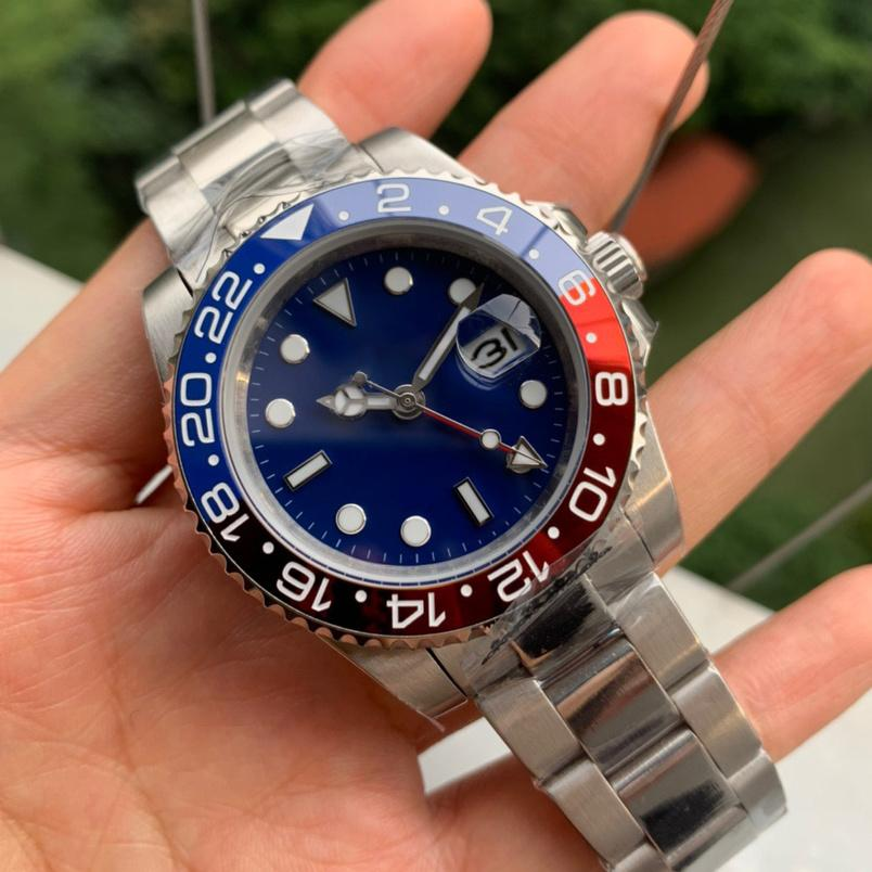 5-5Mens бизнес мода высококачественный циферблат из нержавеющей стали автоматическое механическое движение спортивные сапфиры люкс Смотреть мужские дизайнерские часы