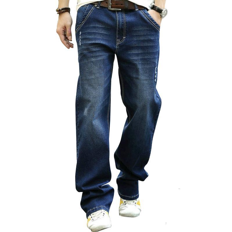 Повседневные джинсовые мужчины большие вспыхиваемые эффект цвета длинные ноги нестандартные джинсы Brokek losse