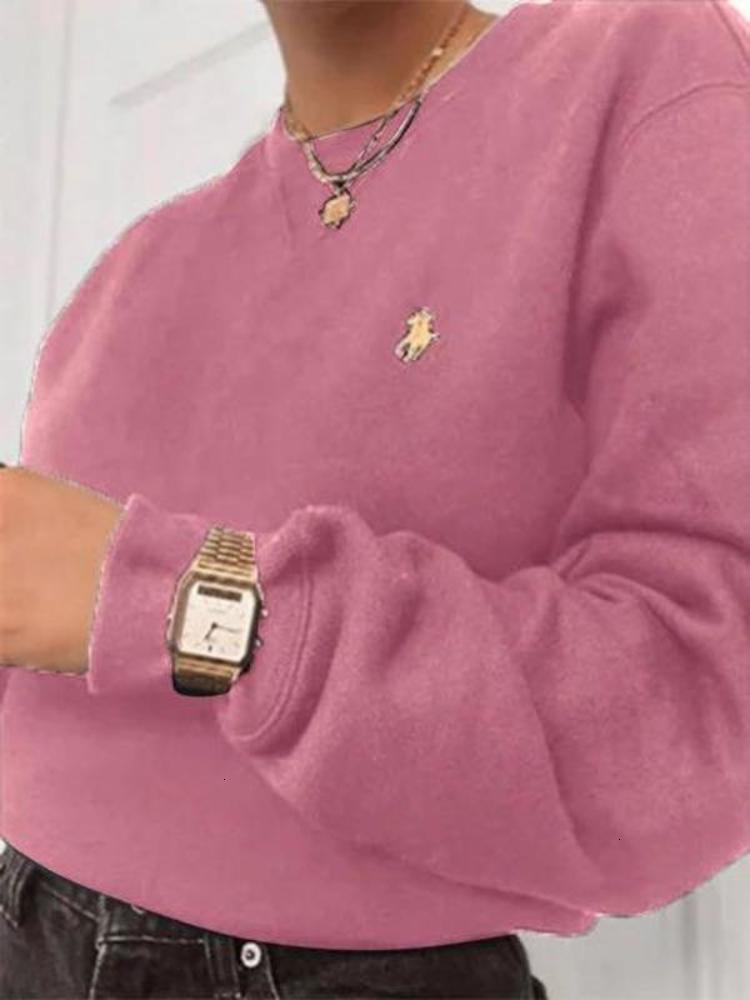 Новая зимняя осень женские вышитые и круглые шеи длинные SVE Pullover