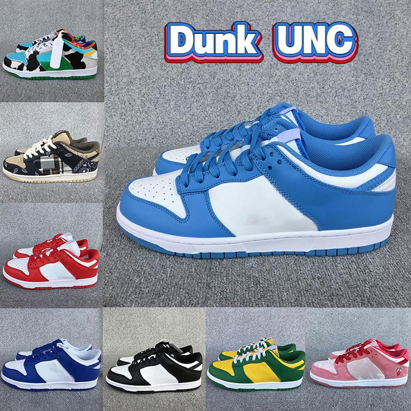 2021 UNC ساحل دونك الاحذية أحذية الرجال مكتنزة دانكي أبيض أسود صبار الفيل جامعة الحمراء البحار العلكة منخفضة النساء أحذية رياضية المدربين