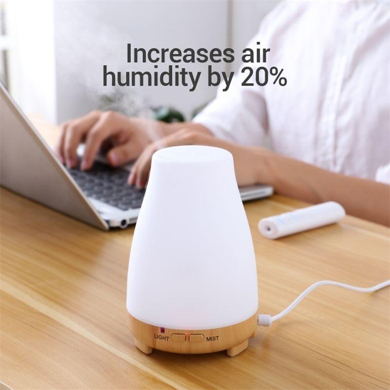 KBaybo Diffuser 200 мл аромат эфирное масло прохладный туман увлажнитель 7 цветов светодиодный свет меняется для домашнего офиса Baby Y200416