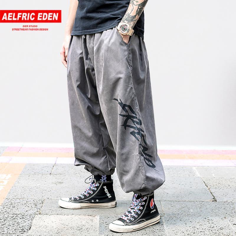 Мужские брюки хип-хоп повседневная 2021 летние граффити мода уличная одежда Harajuku свободный гарем грузовые бегуны мужчины брюки