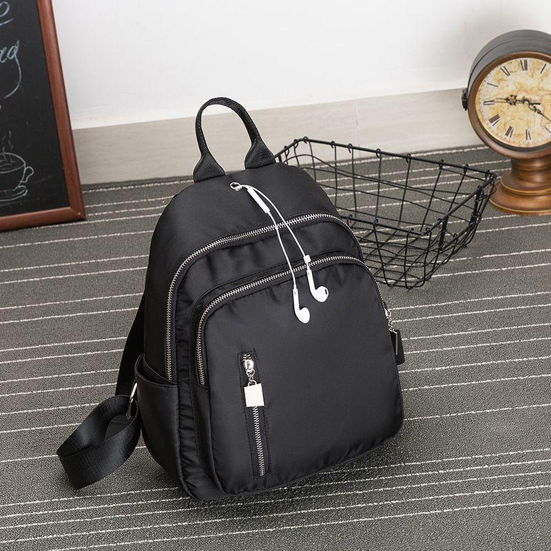 HBP 2021 Package Women Style School Travel Bags for Teenage Girls Leisure Ladies Soft Satchel Unisex Canvas Black Backpacks Rucksack Men