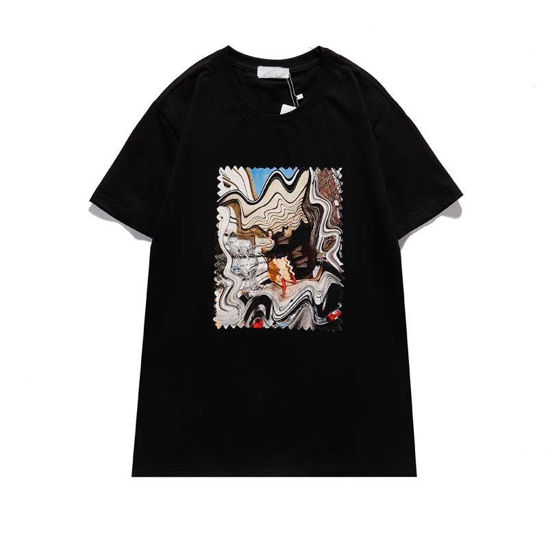 21SS Mode Männer Casual Herren Designer T-shirt Mann Paris Frankreich Straße Shorts Sleeve Clothing Tshirts Asiatische Größe S-2XL