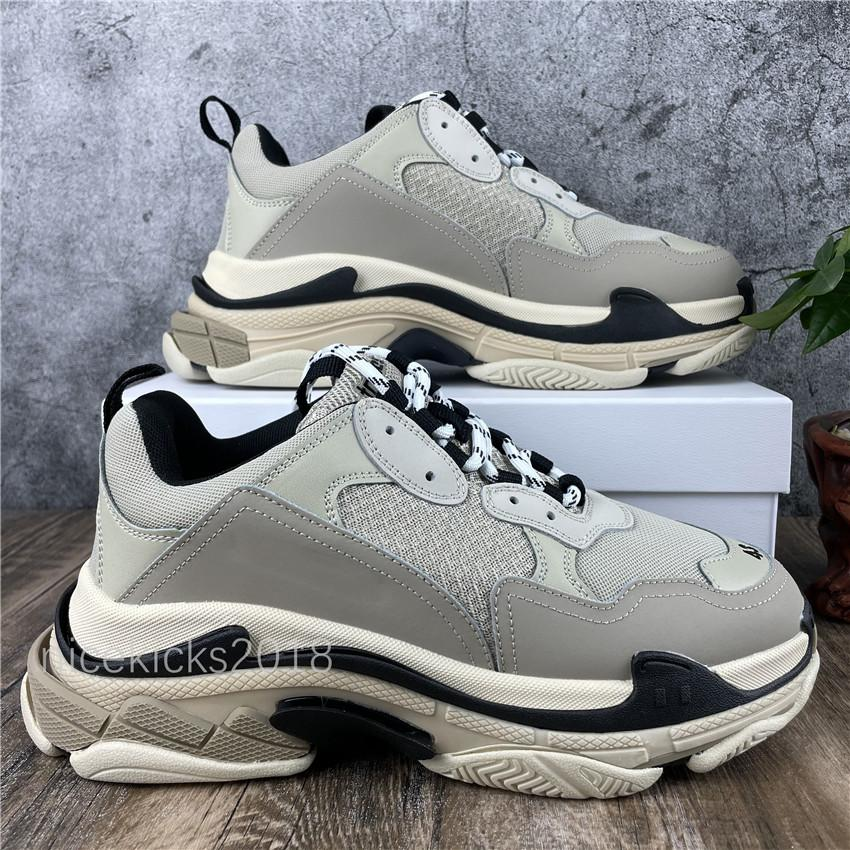 Mens Sports Casual Shoe Triple S Low Old Dad Sneaker Combination Soles Boots Mens Womens Runner Shoes Top Quality