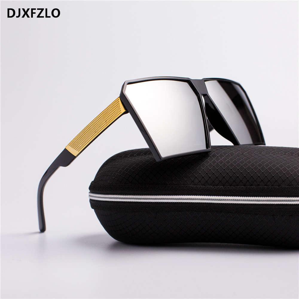 Designer Neue reflektierende Männer Frauen Square Luxus Mode Übergroße Dame Gafas Sonnenbrille