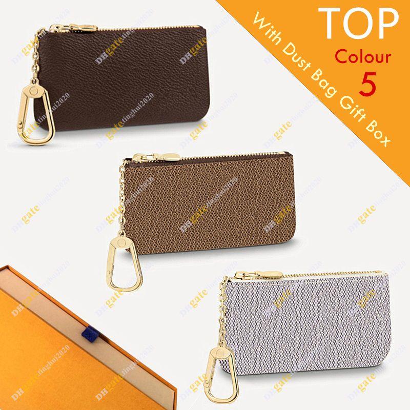 Unisex Designer Key Pouch Mode Geldbörse M62650 M62658 M62659 Flowerchessoard Hohe Qualität Brieftasche Box Verpackung Inventar Kostenloser Versand