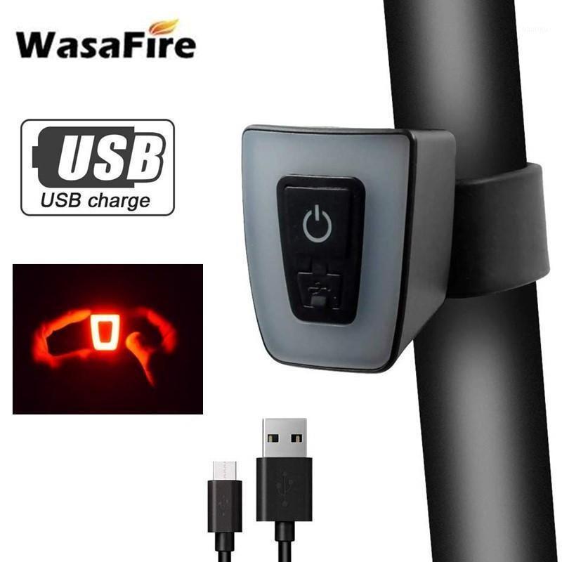 Watafire велосипед задний фонарь USB аккумуляторный велосипед задний задний свет 5 мод Мини светодиодный MTB велосипедный шлем лампа Light1