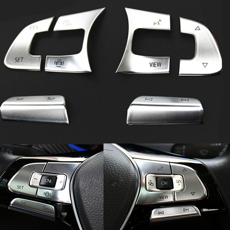 Интерьер автомобиля Многофункциональный рулевое колесо ACC Кнопка коммутатор громкости декоративные кнопки наклейки для VW Golf 7 MK7 Passat B8