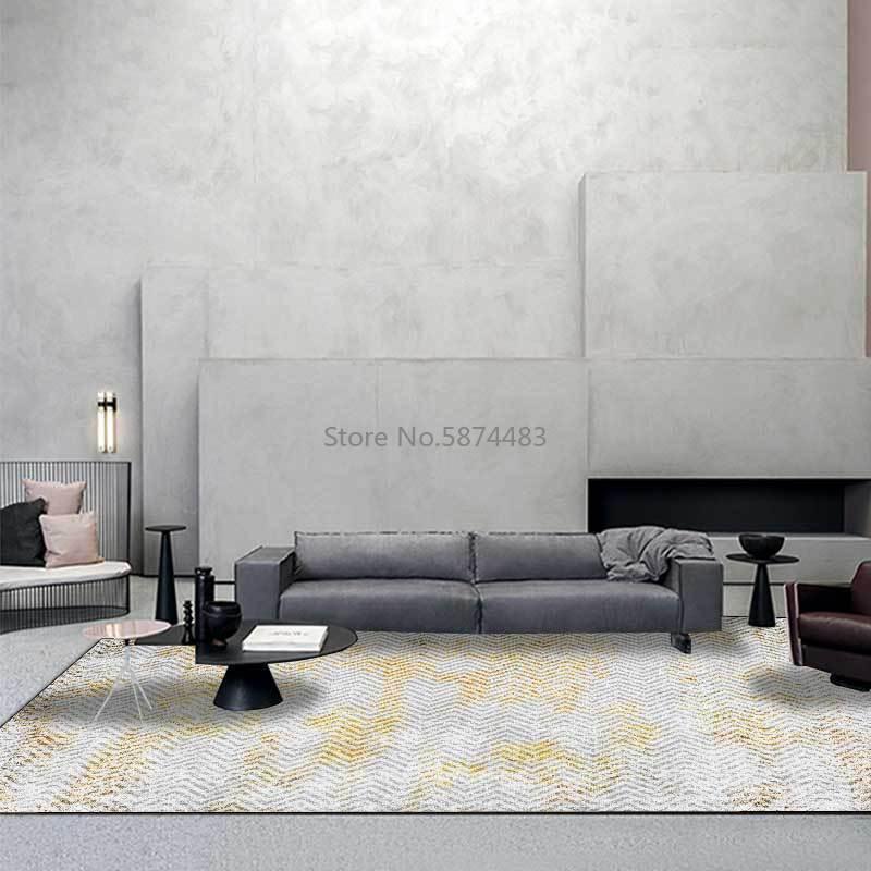 Alfombras de moda moderno americano triángulo geometría gris platino cocina sala de estar dormitorio colchoneta alfombra