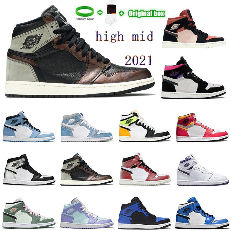 "[Pulsera + calcetines + caja original] SB Dunk High ""Strawberry Cough"" Strawberry Cough Paul Rodriguez Invert Celtics Varsity Maize casual sports skateboard shoes"