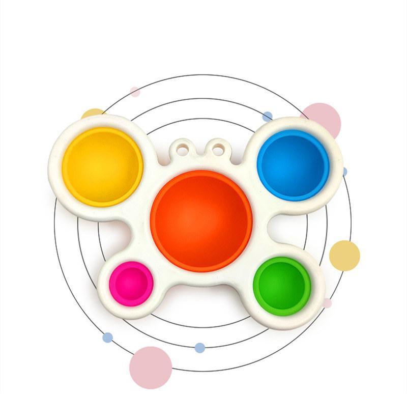 Einfache Dimple Fidget Spielzeug Pop es zappeln Silikon Sensorie Stress Relief Spielzeug, das Krabbenbrett für frühes pädagogisches Spielzeug-DHL-KOSTENLOS bringt