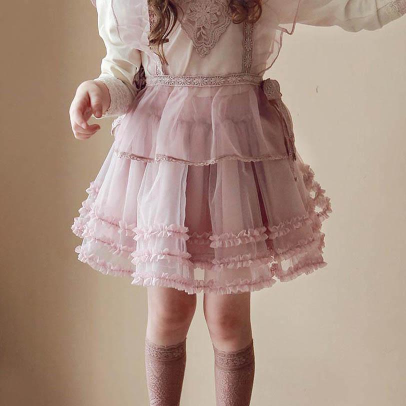 여자 스커트 레이스 투투 스커트 키즈 스커트 귀여운 발레 Tiered 스커트 봄 여름 여자 옷 어린이 의류 2-8Y B4005